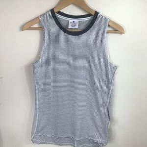 Champion Tops - CHAMPION | B&W Striped Muscle Tank